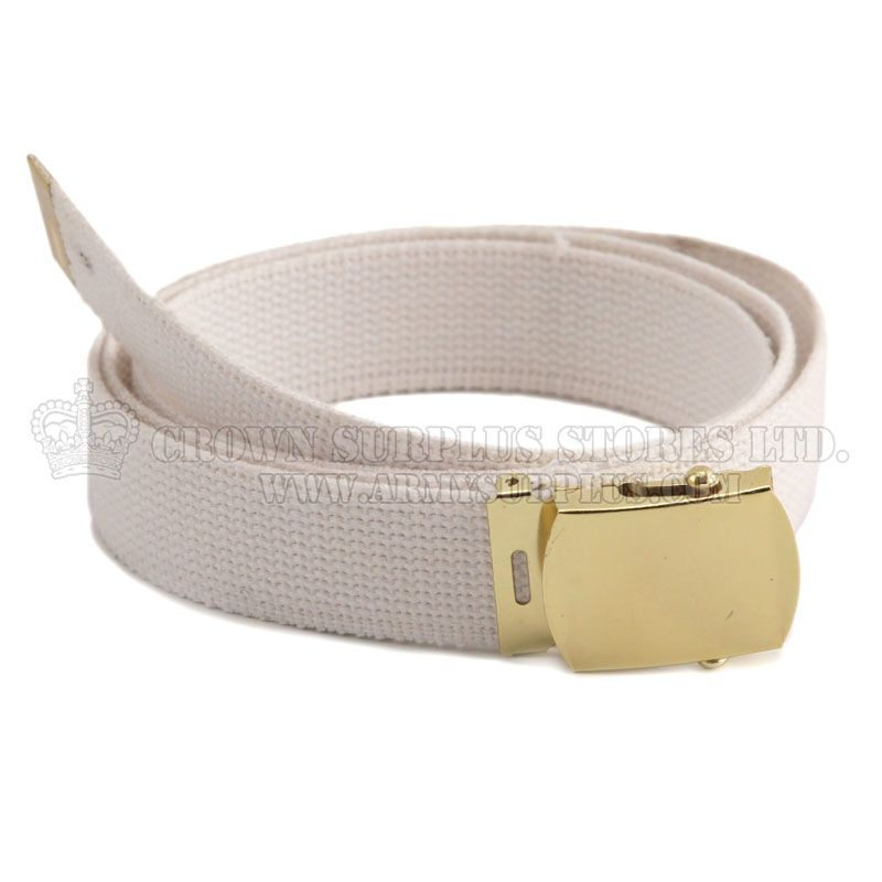 ROTHCO Military Web Belt, White