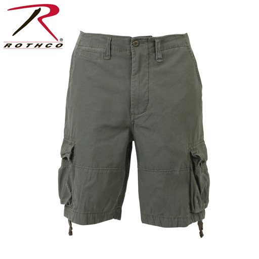 ROTHCO Rothco, Solid Vintage Infantry Shorts, Olive Drab