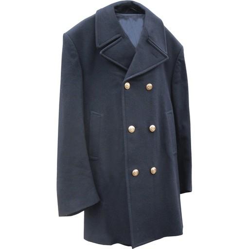 GENUINE SURPLUS Peacoat, Italian Issue, Wool, Navy Blue