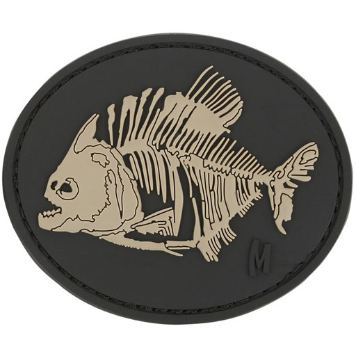MAXPEDITION Maxpedition, Piranha Bones Patch, PVC, Velcro Back