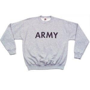 GENUINE SURPLUS Genuine US Issue, Army, Crew Neck Sweatshirt, Grey