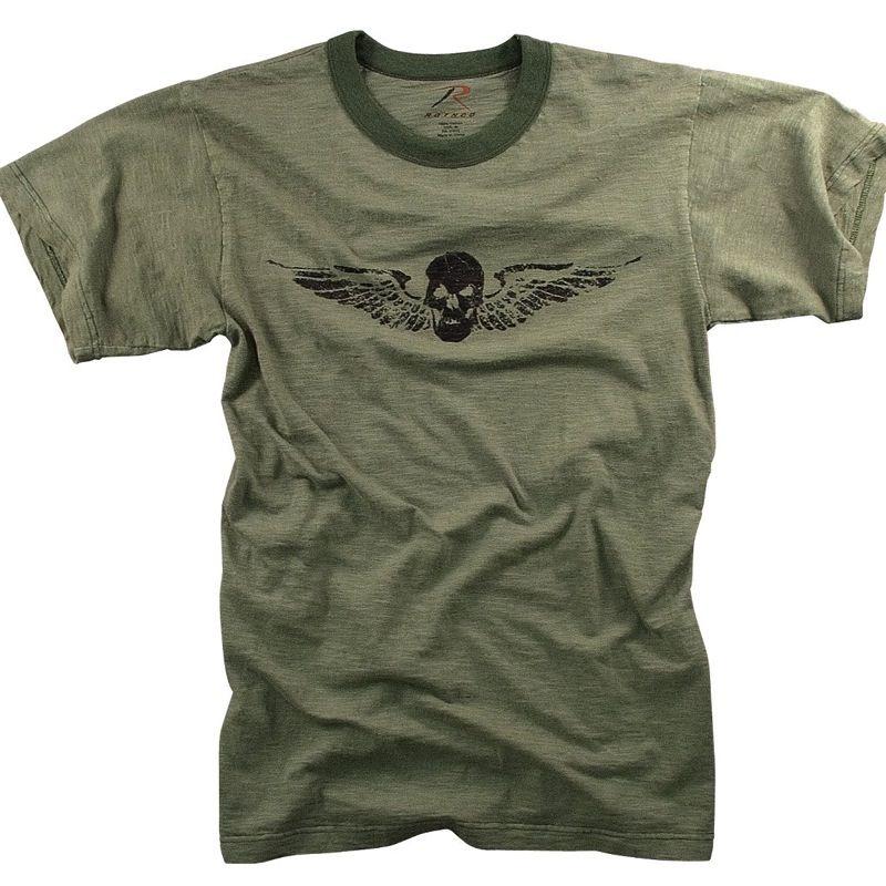 ROTHCO Rothco, Vintage Skull and Wing T-Shirt