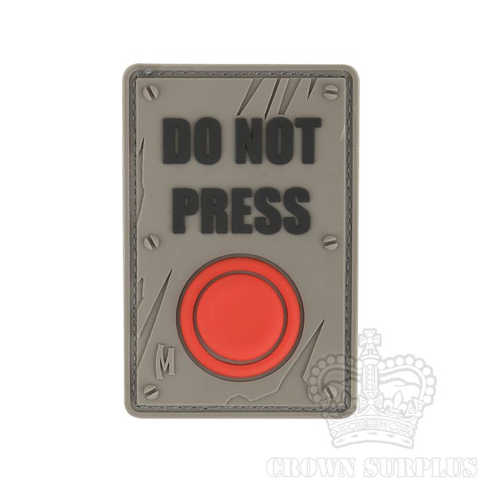 MAXPEDITION Maxpedition, Do Not Press Patch, PVC, Velcro Back