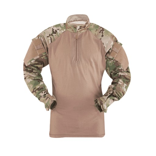 TRU-SPEC TRU-SPEC, Tactical Response Uniform (TRU), 1/4 Zip Combat Shirt, Multi-Cam