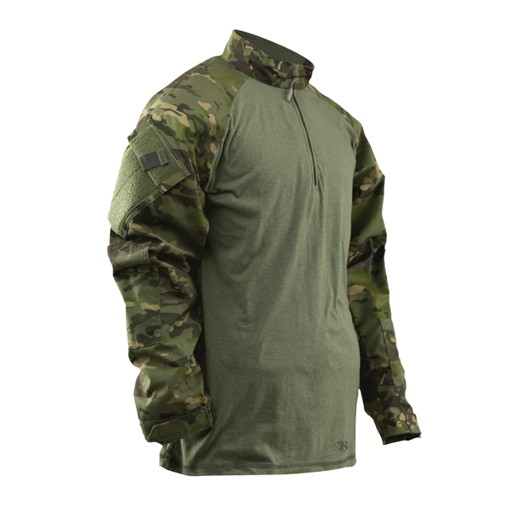TRU-SPEC TRU-SPEC, Tactical Response Uniform (TRU), 1/4 Zip Combat Shirt, Multi-Cam Tropic