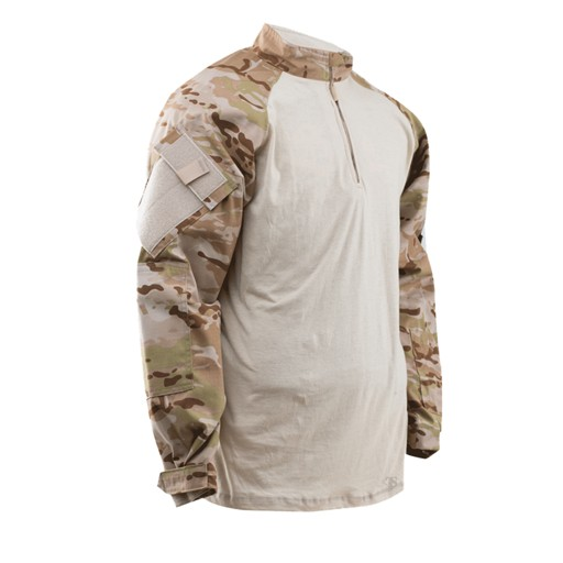 TRU-SPEC TRU-SPEC, Tactical Response Uniform (TRU), 1/4 Zip Combat Shirt, Multi-Cam Arid