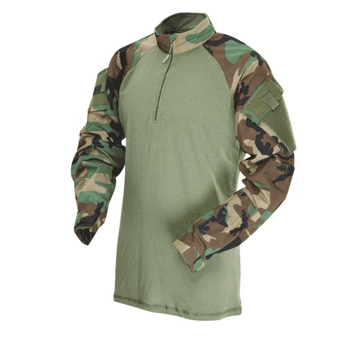 TRU-SPEC TRU-SPEC, Tactical Response Uniform (TRU), 1/4 Zip Combat Shirt, Woodland