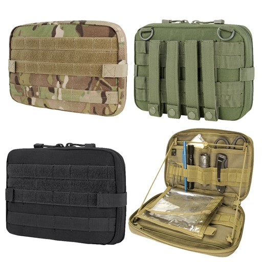 CONDOR The Condor T & T pouch is a low profile, versatile, utility pouch for all your tools, such as allen wrenches, mini flashlight, pocket knife, pen, and other accessories. There are three ways to use the pouch: 1. Using the zipper stopper creates a low profi