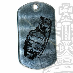 Printed US Type Dog Tag, Grenade