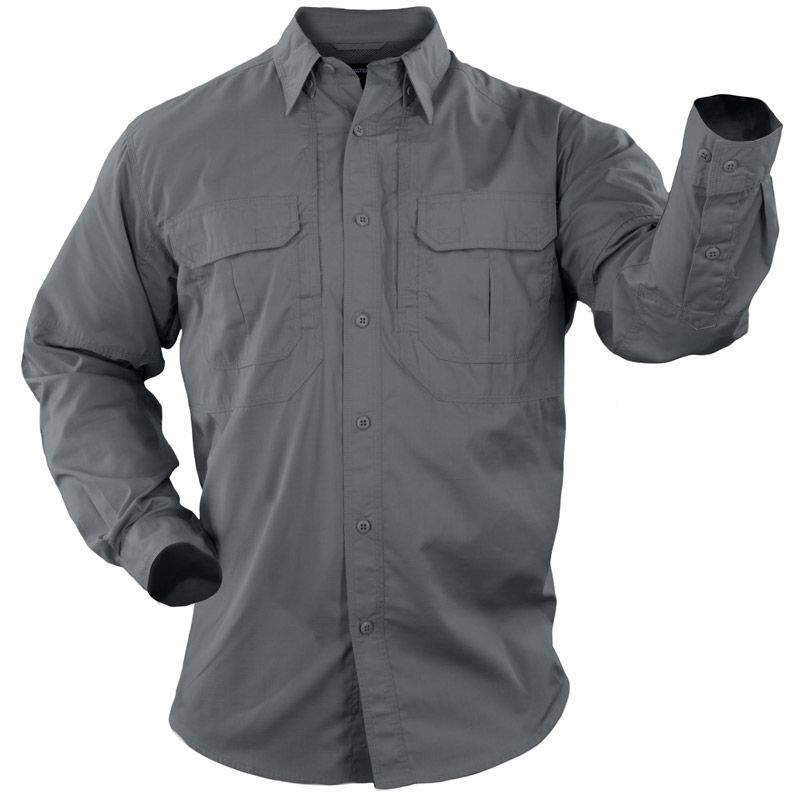 5.11 TACTICAL 5.11 Tactical, Taclite Pro Long Sleeve Shirt, Storm Grey
