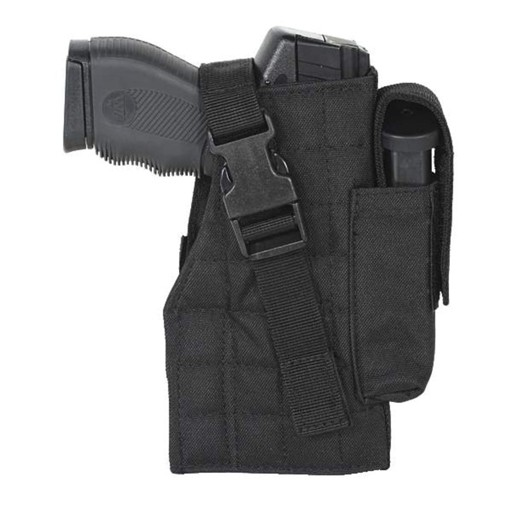 VOODOO TACTICAL Voodoo Holster, Tactical Holster with Attached Mag Pouch