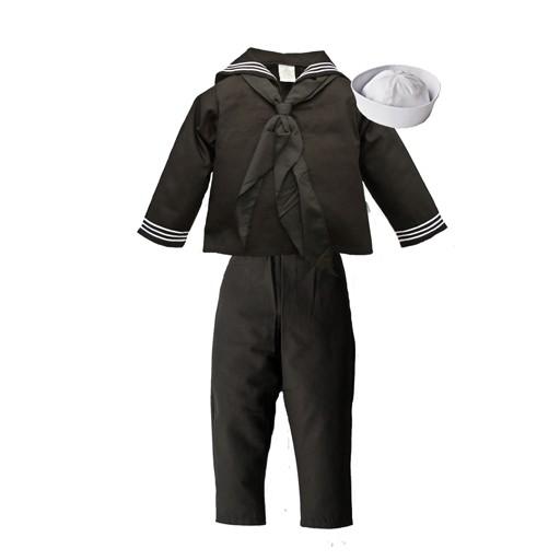 TROOPER CLOTHING Trooper Clothing, Kids Navy , 4-Piece Cracker Jack Uniform, Jacket-Pant-Cap-Scarf