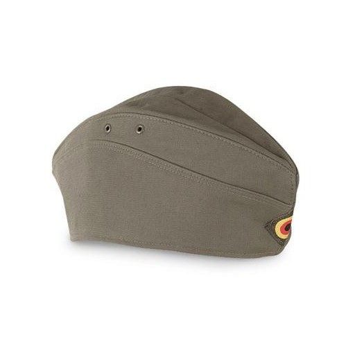 GENUINE SURPLUS Genuine Surplus, New German Moleskin Garrison Cap, Olive Drab