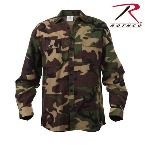 ROTHCO Rothco Extra Heavyweight Camo Flannel Shirt