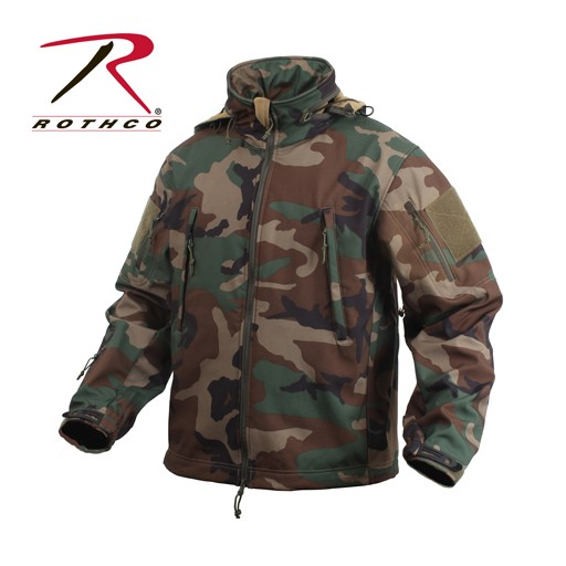 ROTHCO Rothco Special Ops Tactical Soft Shell Jacket, Woodland Camo