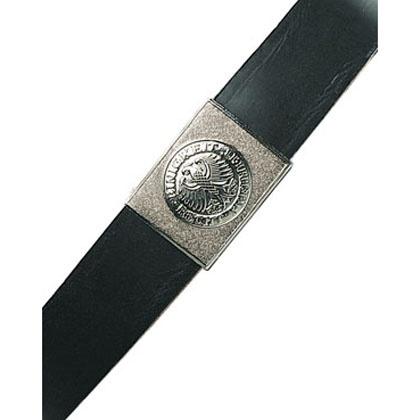 Belt, East German, Black Leather