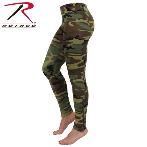ROTHCO Rothco, Performance Workout Leggings, Woodland Camo