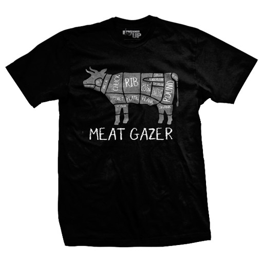 RANGER UP Ranger Up, Meat Gazer, Ultra-Thin Vintage, T-Shirt