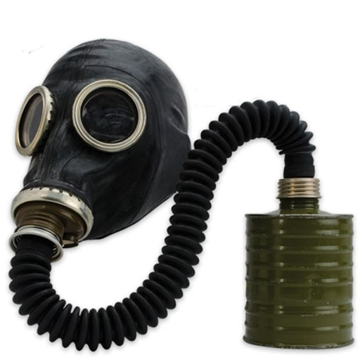 Gas Mask, Russian SchM-41M,<br /> Black, Complete with Bag &amp; Filter,<br /> New