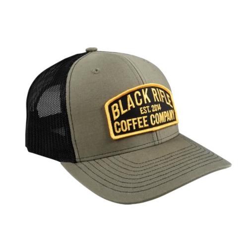 BLACK RIFLE COFFEE Keystone Trucker Hat, Green/Black