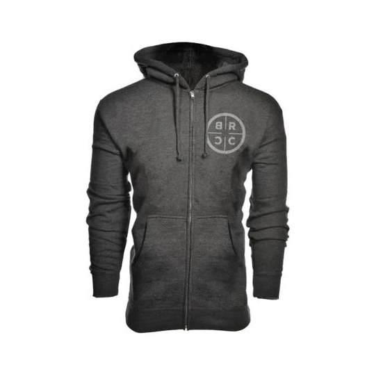 BLACK RIFLE COFFEE BRCC Canada Zip-Up Hoodie (Midweight) - Dark Gray