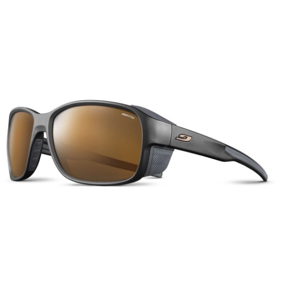 JULBO Montebianco 2 Sunglasses, Black/ Brown, REACTIV HIGH MOUNTAIN 2-4