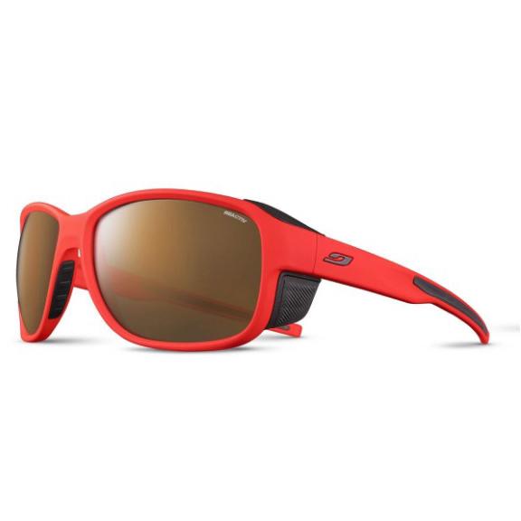 JULBO Montebianco 2 Sunglasses, Neon Orange/ Brown, REACTIV HIGH MOUNTAIN 2-4