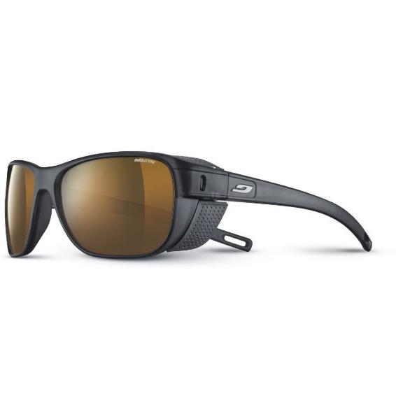 JULBO Camino Sunglasses, Matt Black/Grey, Reactiv High Mountain 2-4