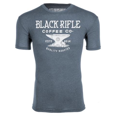 BLACK RIFLE COFFEE Black Rifle Coffee - Anvil Logo, Vinage Blue, Shirt