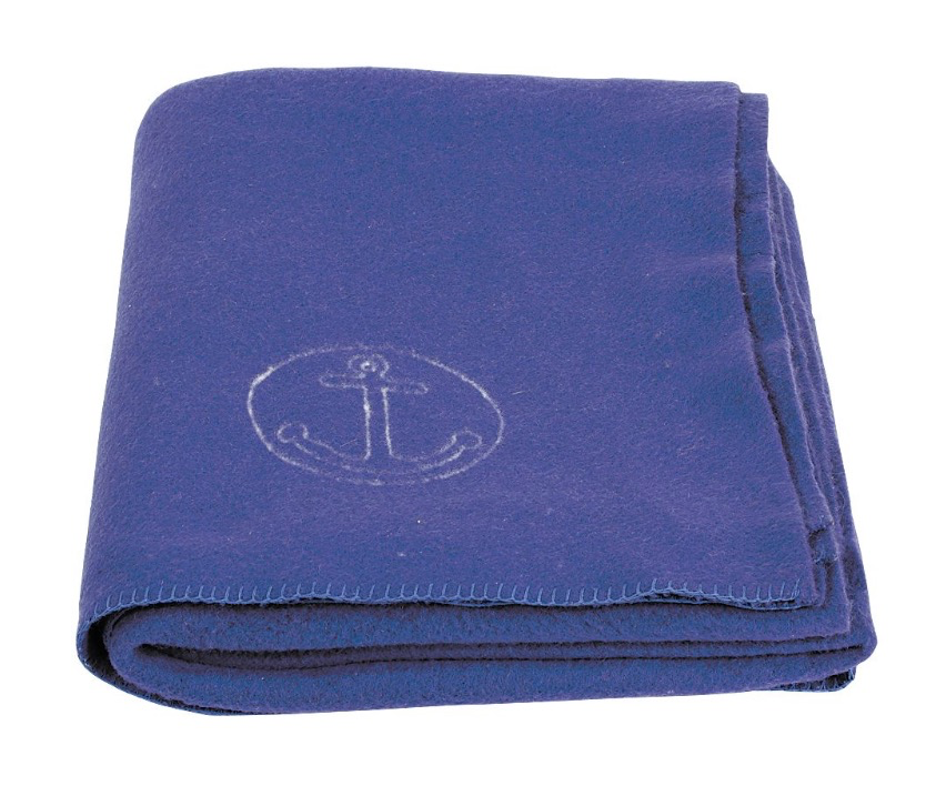 GENUINE SURPLUS Italian Submariner Wool Blanket, Blue