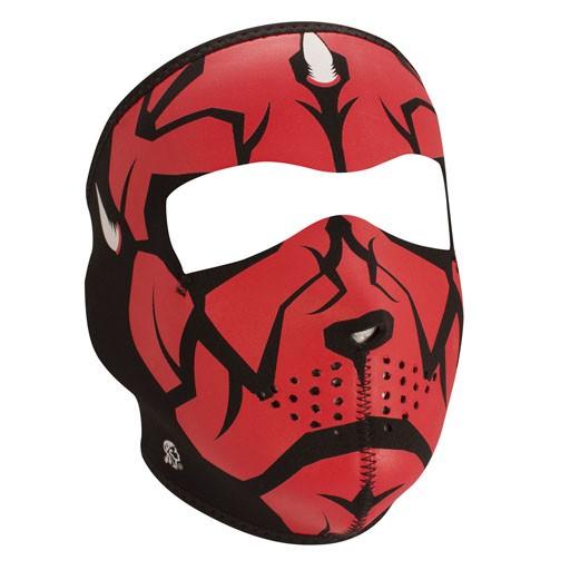 ZAN ZAN Headgear, Neoprene Full Mask, Darklord, Glow in the Dark