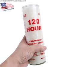 GENUINE SURPLUS Candle, Emergency 120 hr, in a glass jar
