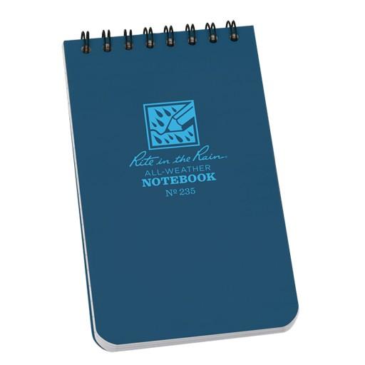 RITE IN THE RAIN Rite in the Rain, Universal Polydura Notebook, 3''x 5'', Blue