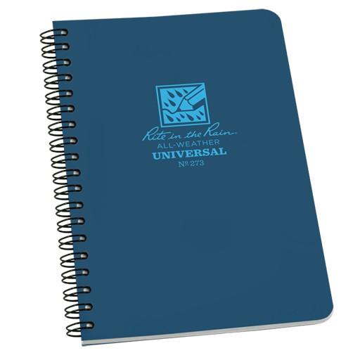 RITE IN THE RAIN Rite in the Rain, Universal Polydura Notebook, 4 5/8'' x 7'', Blue