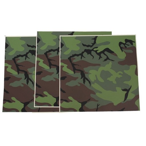 GENUINE SURPLUS GI US Air Force Flight Helmet Camouflage Adhesive Film U-440/P For HGU-NSN: 8475-00-173-9054 - 3 Sheet Pack