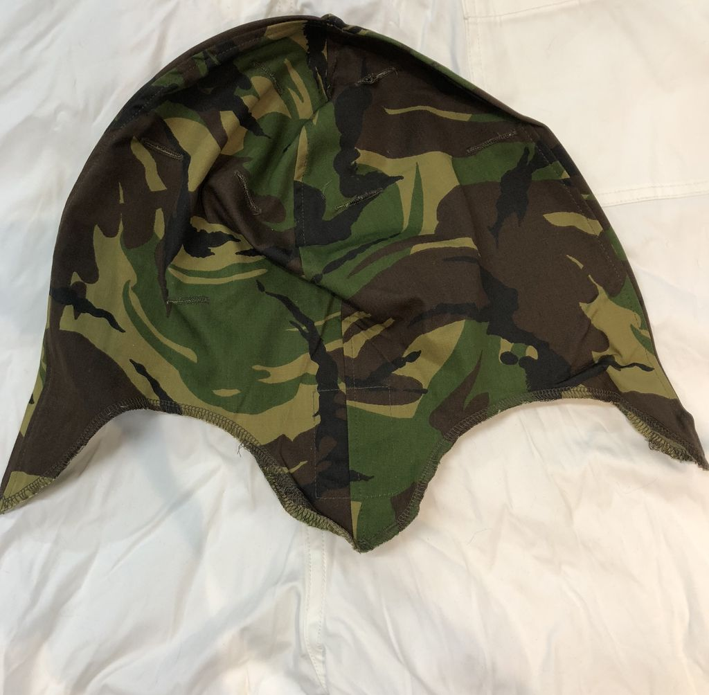 GENUINE SURPLUS Cover, Helmet, M-1, DPM, Woodland,Dutch Issue, New