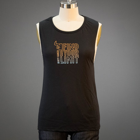 2019 Dirty Kanza Women's Find Your Limit Muscle Tee Black