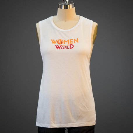 2019 Dirty Kanza Women Ride the World Muscle Tee White
