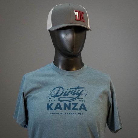 2019 Dirty Kanza Curved Trucker DK Logo