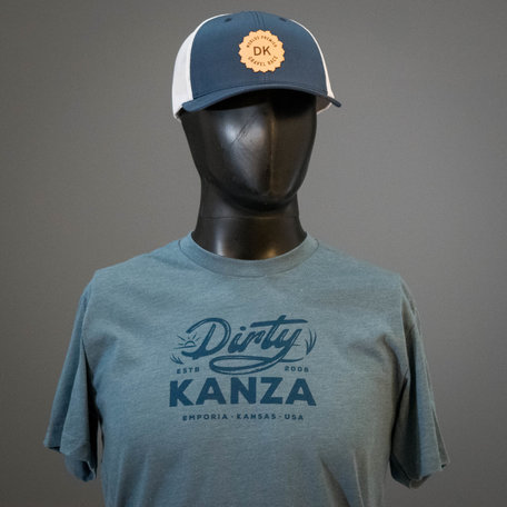2019 Dirty Kanza Curved Trucker Leather Emblem