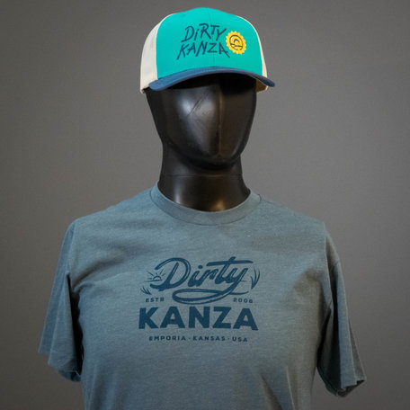 2019 Dirty Kanza Curved Trucker Teal