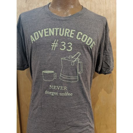 Gravel City Adventure Code T-Shirt, Coffee,