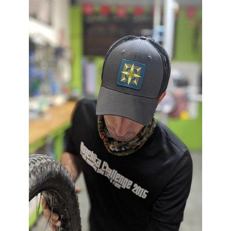 Gravel City Custom Barn Quilt Trucker Hat, OSFM, Black/Carcoal