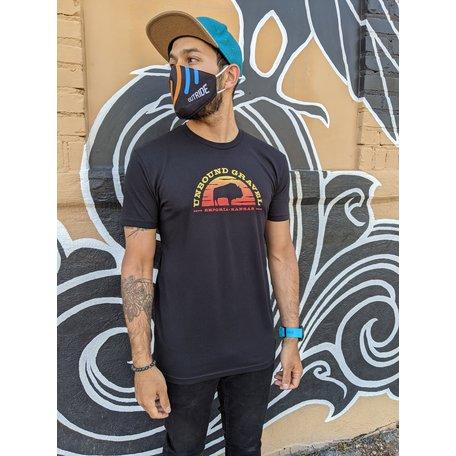 Bison Half Moon T-Shirt Black 2021 UNBOUND Gravel