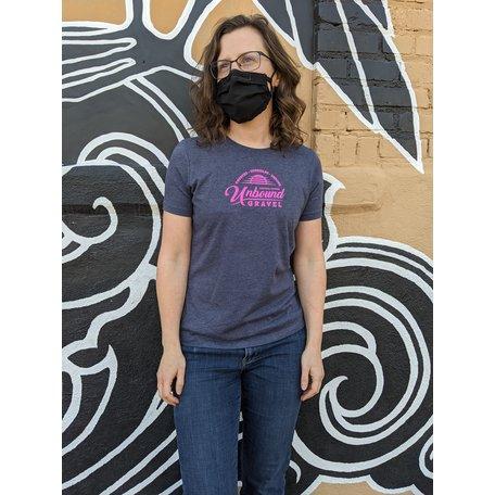 Gravel Ladies T-Shirt Heather Navy 2021 UNBOUND Gravel