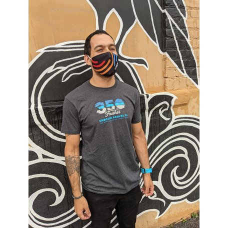 350 Finisher T-Shirt Charcoal 2021 UNBOUND Gravel