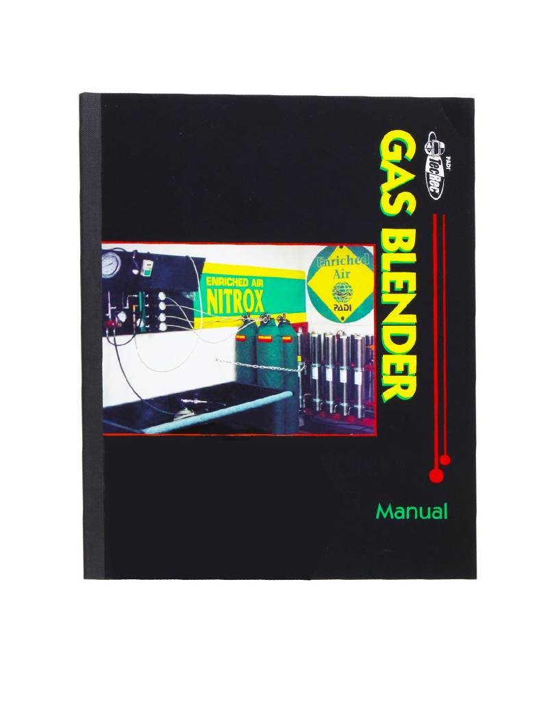 PADI PADI Gas Blender Manual