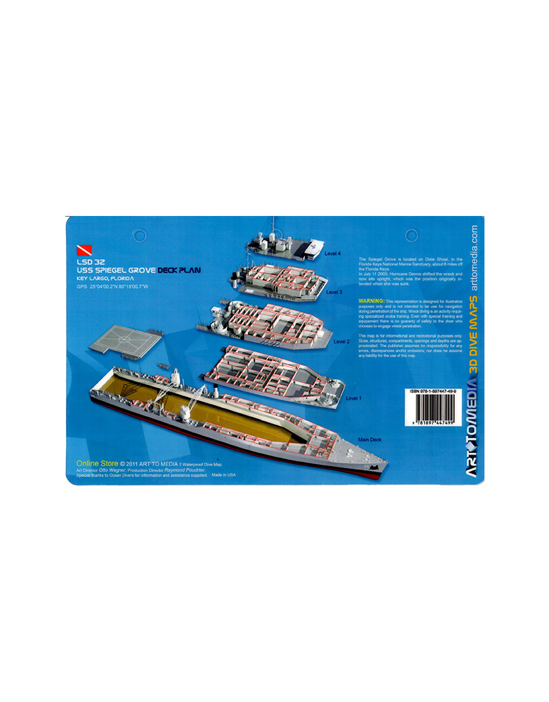 Marine Sports Mfg. Map 3D UW - Spiegel Grove Deck