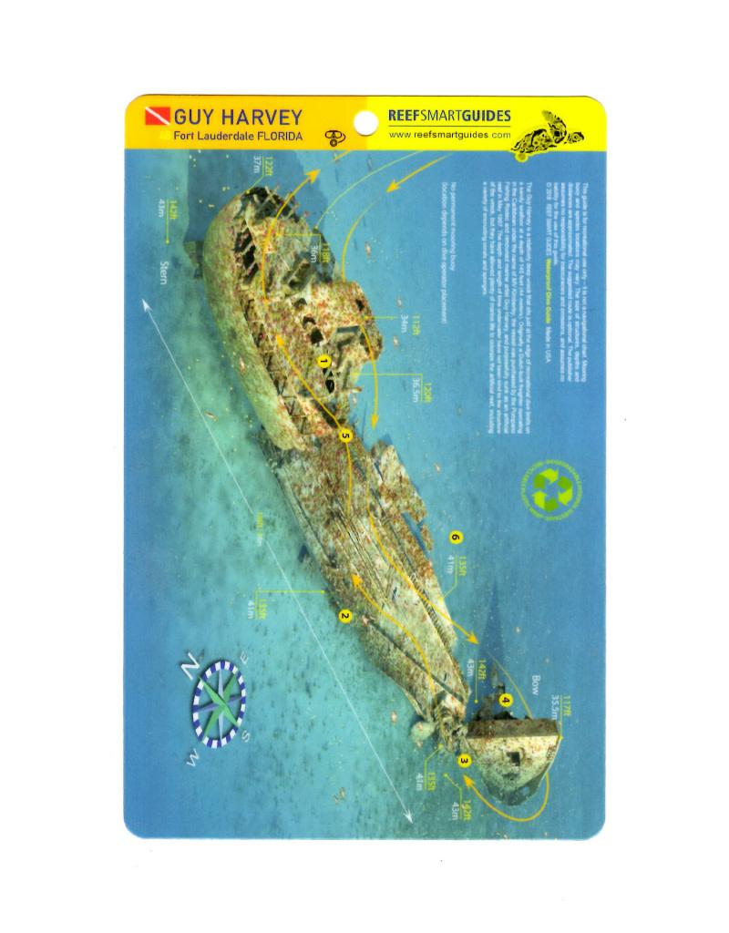 Reef Smart/Mango Media Reef Smart Wreck Map Guy Harvey