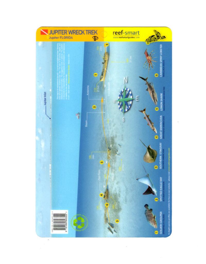 Reef Smart/Mango Media Reef Smart Wreck Map Jupiter Wreck Trek